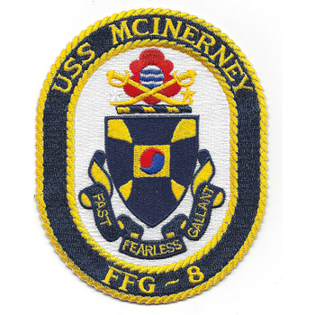 USS Mcinerney FFG-8 Patch