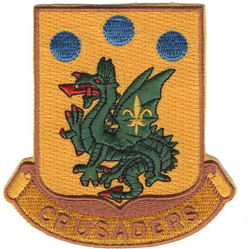 72nd Armor Regiment Crusaders Patch