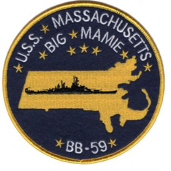 USS Massachusetts BB-59 Battleship Patch
