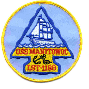 USS Manitowoc County LST-1180 Patch - Version A