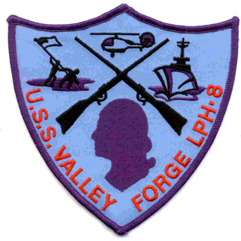 USS LPH-8 Valley Forge Amphibious Assault Ship Patch