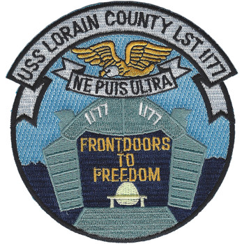USS Lorain County LST 1177 Tank Landing Ship Patch