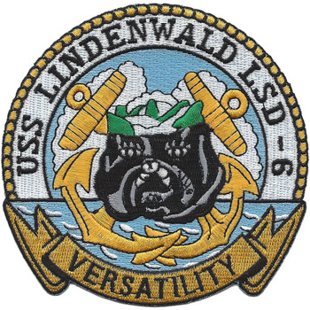 USS Lindenwald LSD-6 Dock Landing Ship Patch