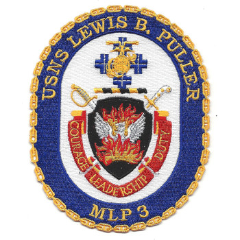 USS Lewis B. Puller MLP-3 Ship Patch2981