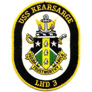 USS Kearsarge LHD-3 Amphibious Assault Ship Patch