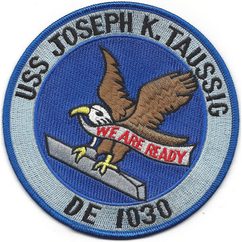 USS Joseph K. Tassig DE-1030 Destroyer Escort Ship Patch