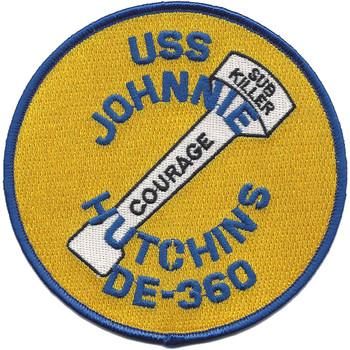 USS Johnnie Hutchins DE 360 MOH Patch