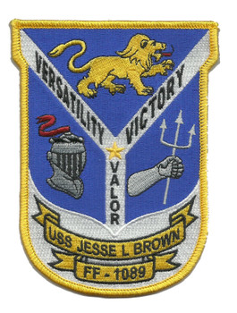 USS Jesse L. Brown FF-1089 Frigate Ship Patch