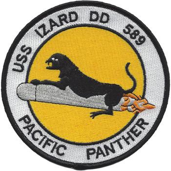 USS Izard DD 589 Destroyer Ship Patch