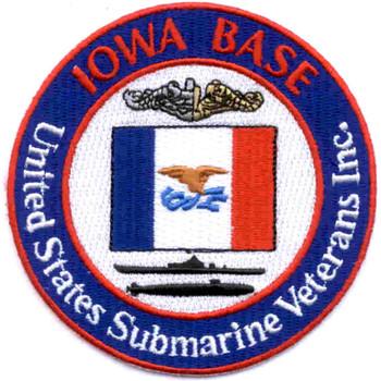 USS Iowa Veterans Submarine Base Patch