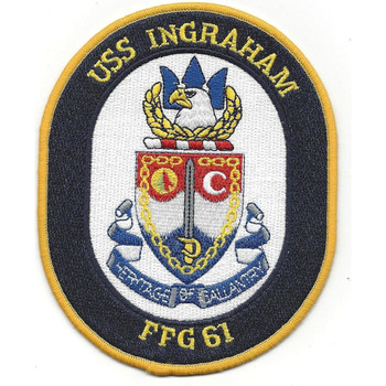 USS Ingraham FFG-61 Guided Missile Frigate Ship Patch