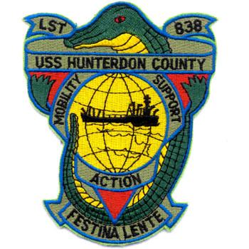 USS Hunterdon County LST-838 Patch