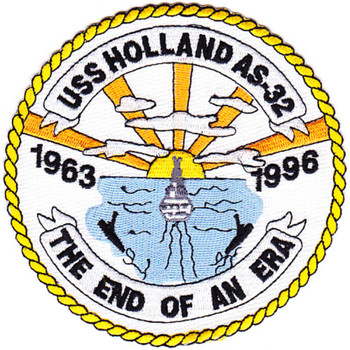 USS Holland AS-32 THE END OF AN ERA Patch