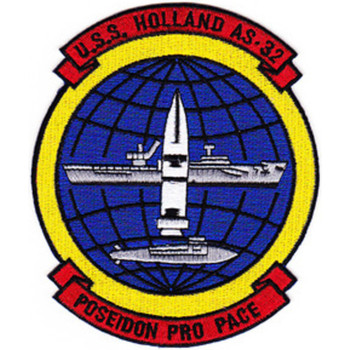 USS Holland AS-32 POLARIS PRO PACE Yellow border Patch