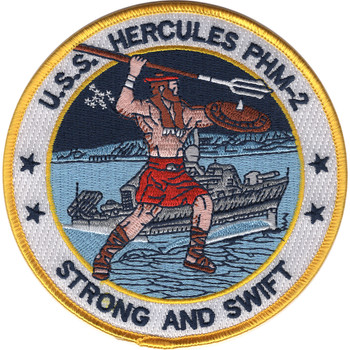 USS Hercules PHM-2 Hydrofoil Patrol Combatant Missile Ship Patch