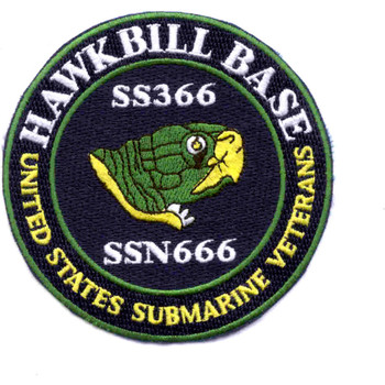 USS Hawkbill Veterans Base Pocatelo/Twin Falls Idaho Patch