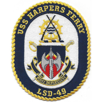 USS Harpers Ferry LSD-49 Dock Landing Ship Patch