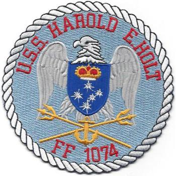 USS Harold E. Holt FF-1074 Knox Class Frigate Destroyer Escort Patch