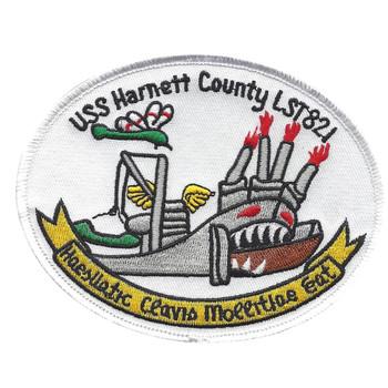 USS Harnett County LST 821 Tank Landing Ship Patch