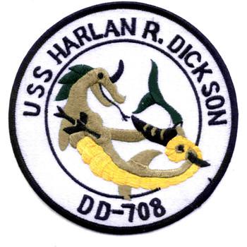 USS Harlan R Dickson DD-708 Patch