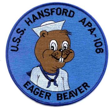 USS Hansford APA-106 Patch