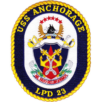 USS Anchorage LPD 23 Amphibious Transport Dock Ship Patch