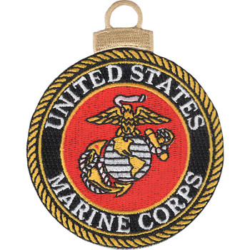 US Marine Corps Embroidered Christmas Tree Ornament Emblem