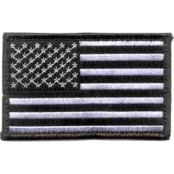U. S. Flag Silver Right Sleeve Patch Hook And Loop