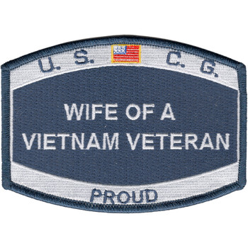USCG Wife Of A Vietnam Veteran Patch