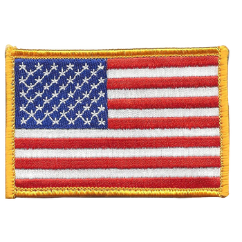 U.S. American Flag Patch Hook & Loop Backing