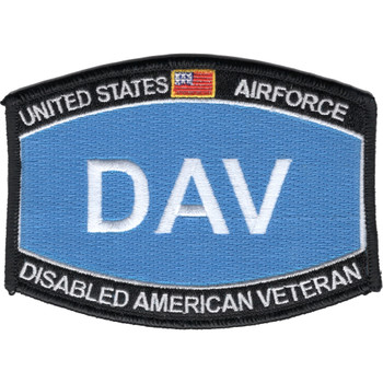 US Air Force DAV Disabled American Veteran Patch