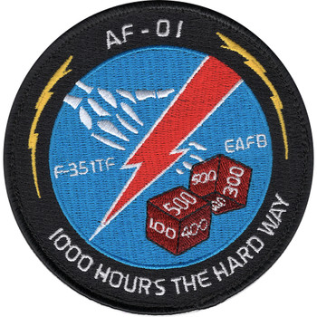 U.S.A.F. AF-01 F-35 Integrated Test Force Hoop And Loop Patch