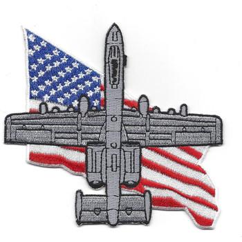 U.S.A. A-10 Thunderbolt II Flag Patch