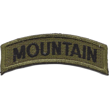 U.S. 10th Mountain Division Rocker OD Patch