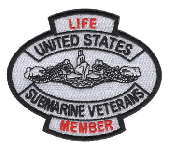 United States Submarine Veterans Life Member Patch