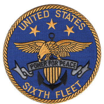United States Sixth Fleet Patch