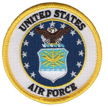 United States Air Force Crest Patch - Military Service Mark