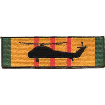 UH-34D Silhouette On Vietnam Service Ribbon Patch