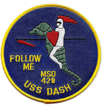 USS Dash MSO-428 Minesweeper Ocean Ship Patch