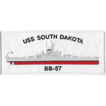 USS Dakota BB-57 Battleship Patch
