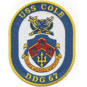 USS Cole DDG-67 Guided Missile Destroyer Patch