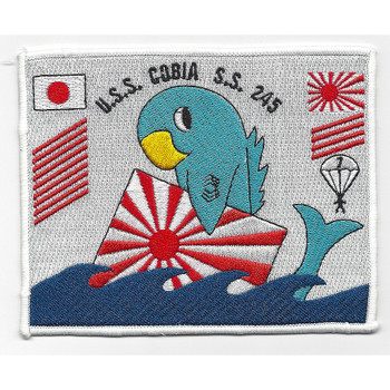 USS Cobia SS-245 Diesel Electric Submarine Bettle Flag Patch