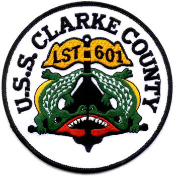 USS Clark County LST-601 Tank Landing Ship Patch