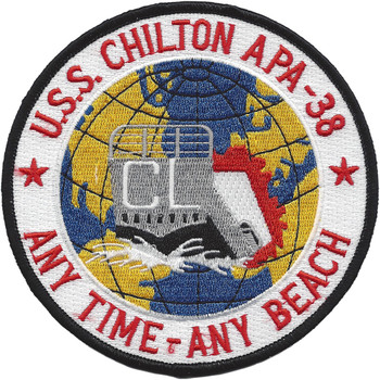 USS Chilton APA-38 patch