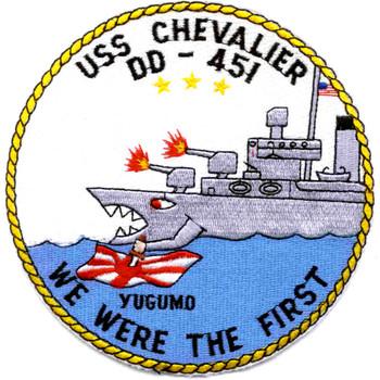 USS Chevalier DD-451 Destroyer Ship Patch