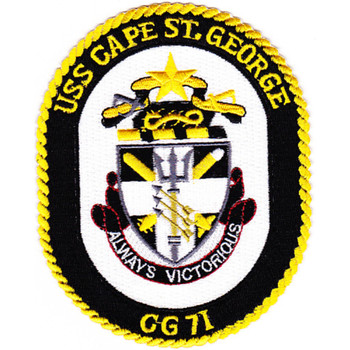 USS Cape St. George CG-71 Patch - Black Version