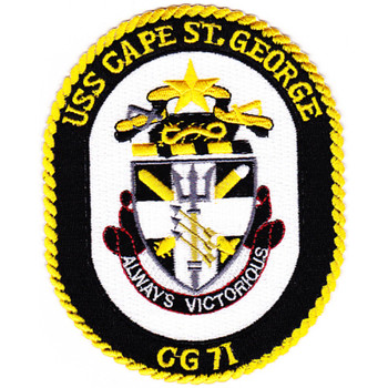 USS Cape St. George CG-71 Ball Cap Patch