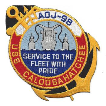 USS Caloosahatchee AOJ 98 Auxiliary Oiler Jumbo Ship Patch