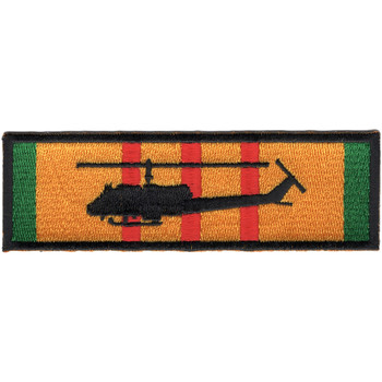 UH-1E Silhouette On Vietnam Service Ribbon Patch