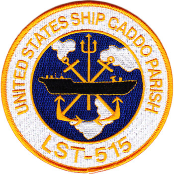 USS Caddo Parish LST-515 Tank Landing Ship Patch